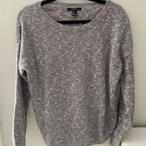 Chunky grey sweater - perfect with leggings!
